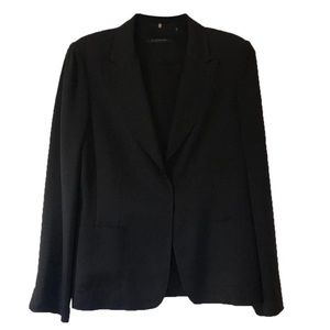 Elie Tahari Black Silk Blazer